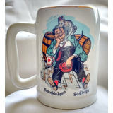 Caneca De Chopp Decorada Antiga - Festa 1970