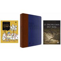 Kit Bíblia Estudo Brasileira Azul + 2 Livros Luiz Saião