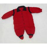 Macacão Pé Bebê Tricot Inverno Gola Polo Aberto Veste Fácil