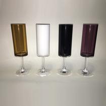 Taça Em Acrílico Para Champagne Mjn1-c Caramelo
