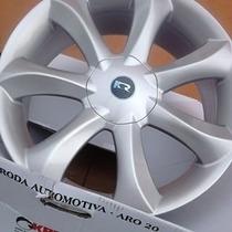 Jogo Roda Infinity Santorini Aro14 4/5 Fiesta Gol Fox +pneus