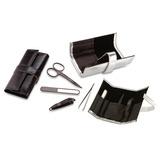 Kit X2 Set Manicure Style Poliuretano 4 Accesorios-plateado