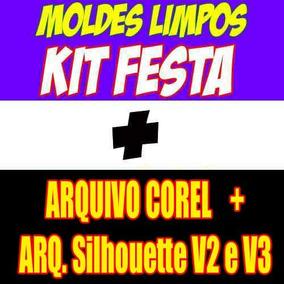 Moldes Limpos Kit Festa Digital + Vetores P/ Personalização