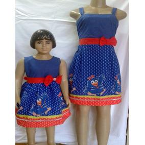 Vestido Galinha Pintadinha Kit Mãe E Filha Tamanhos 8-12