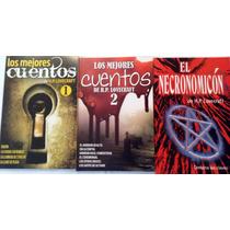 H P Lovecraft Los Mejores Cuentos 1 Y 2 + Necronomicon Pkt 3