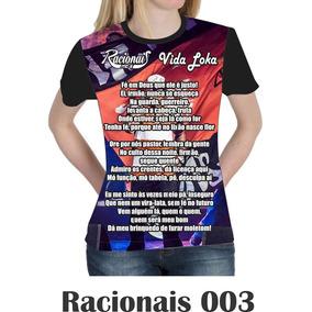 Camisa Camiseta Racionais Mcs Vida Loka Baby Look 003