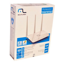 Roteador Multilaser Wireless 300mbps3 Antenas 5dbi Re163