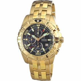 Relógio Festina Dourado F16119-3 Original Garantia 2 Anos