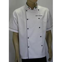 Doma De Chef, Manga Curta C/bordados Gastronomia Cozinheiro