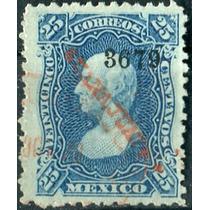 1833 Clásico Hudalgo Scott #109 Guanajuato #3679 25c Usado