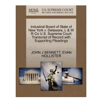 Libro Industrial Board Of State Of New York V., John J Benne