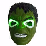 Kit Máscara Hulk Acende Olhos Led + Máscara Homem De Ferro