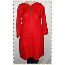 Remeron Camisola Hindu Roja Larga Talle Grande P Gorditas