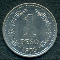 Moneda Argentina 1959 1 Peso Cj#254