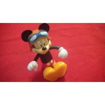 Antiguo Muñeco De Mickey Articulado De Plástico Duro De 9 Cm