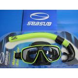 Kit De Mergulho Seasub Dua Apneia Snorkeling Promoção
