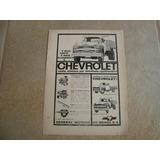 Propaganda Antiga Caminhão Chevrolet Brasil 1960 3100 6500