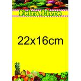Cartaz Feira Livre Papel Cartão 250g (22x16cm) Pct 100und.