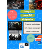 Juegos Para Pc Originales. Steam, Uplay,origin
