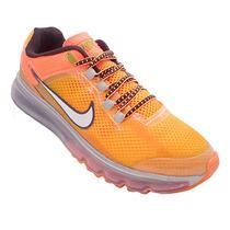 Tênis Nike Air Max 2014 Laranja E Prata (1ª Linha)