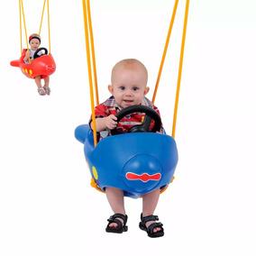 Balanço Infantil Avião Com Ganchos Xalingo Azul Ou Vermelho