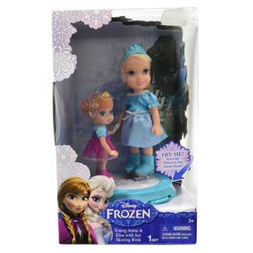 Conjunto Bonecos Frozen - Elsa E Anna Com Patins