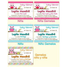 Invitaciones Personalizadas Baby Shower Niño Niña