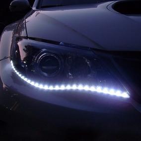 Fita Led Branca Adesivo P/carro Moto Flexivel 30cm