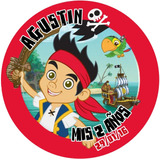Pack Cotillon Personalizado Jake El Pirata Nunca Jamas