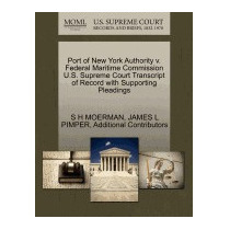 Libro Port Of New York Authority V. Federal Maritime, S H Mo