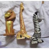 Boneco Leão, Girafa E Zebra Madagascar Dream Works