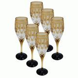 Conjunto De 6 Taças De Cristal Lapidado Para Champagne 69