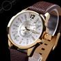 Hermoso Reloj 100% Original Marca Curren, Calendario, Piel