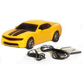 Caixa De Som Carro Camaro Amarelo Portátil Mp3 Usb Sd Rádio