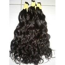 Aplique Mega Hair- Cabelo Humano Ondulado 60 Cm 150 Gramas