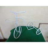 #12916 - Bicicleta Enfeite Jardim Branca, Decorativa!!
