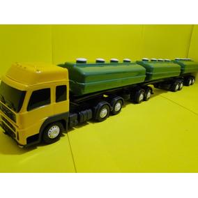 Bitrem Caminhão Brinquedo Tanque Combustivel Scania Volvo