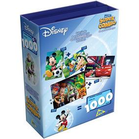 Maleta Super Combo Quebra-cabeça Disney 1000 Peças