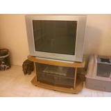 Televisor Sony Wega Kv-34fs110 + Mesa De Roble Macizo