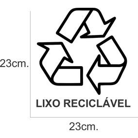 Adesivo Decorativo De Parede Lixo Reciclável