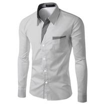 Camisa Social Masculina Slim Fit De Luxo Importada 14 Cores