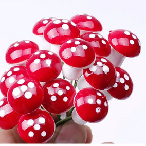 10 Cogumelos Miniaturas Terrários Mini Jardim Fada Suculenta