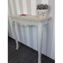 Mesa Recibidor Estilo Vintage Color Menta O Blanco Antiguo