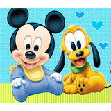 Kit Imprimible Mickey Bebe Invitaciones Candy Bar Y Cotillon