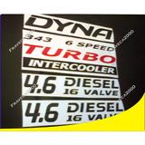 Kit Calcomanias Emblema Camion Toyota Dyna Completo