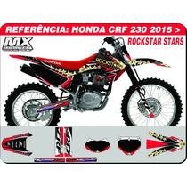 Kit De Adesivos-crf 230 2015-rockstar Stars-qualidade 3m
