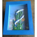 Cuadro 3d Infantil Decoración Marino Delfines