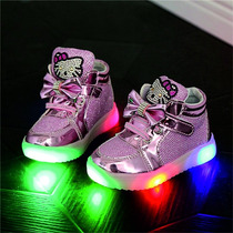 Tenis Zapatos Hello Kitty Brillos Con Luz Led Varias Tallas