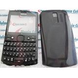 Frete Grátis! Carcaça Nokia Asha 205 Preta Chassi + Teclado