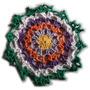 Carpeta Tejida Al Crochet Hilo Rústico Deco